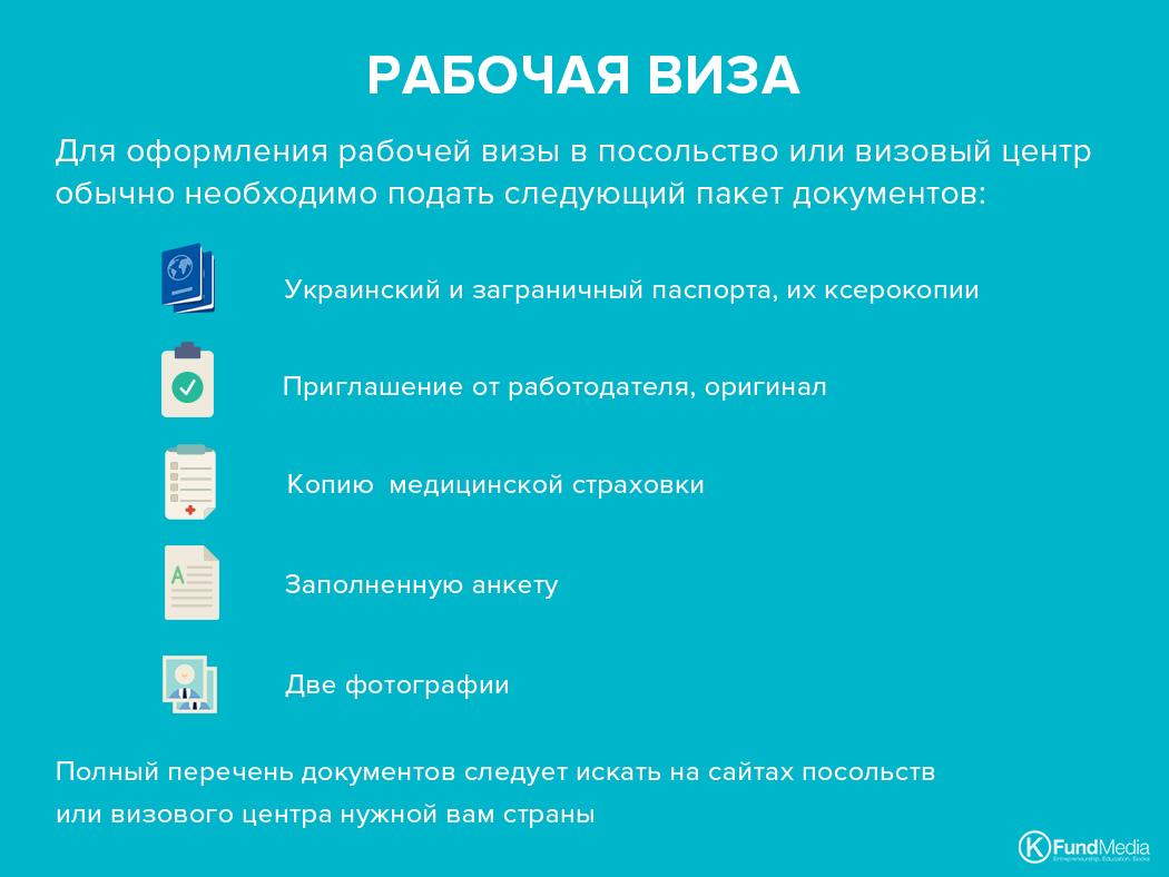 документы для рабочей визы в ЕС